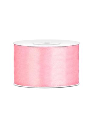 Dubultā satīna lente, gaiši rozā, 38 mm x 25 m
