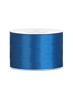 Dubultā satīna lente, zila, 50 mm x 25 m