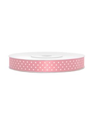 Satīna lente, gaiši rozā, 12 mm x 25 m