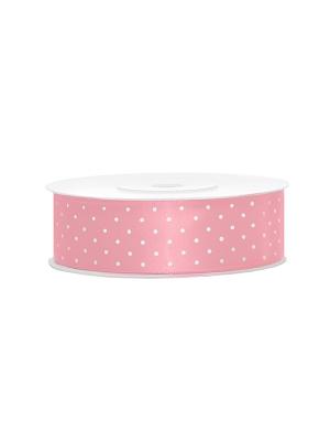 Satīna lente, gaiši rozā, 25 mm x 25 m