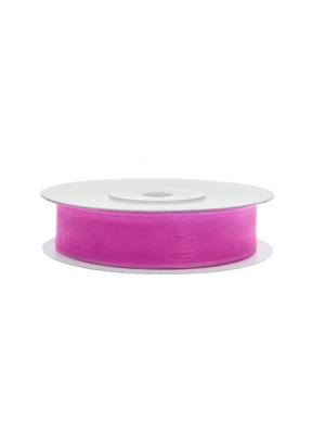 Šifona lente, rozā, 12 mm x 25 m
