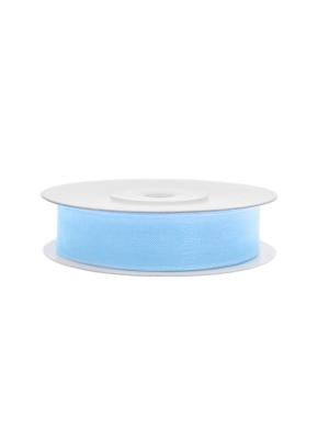 Šifona lente, gaiši zila, 12 mm x 25 m