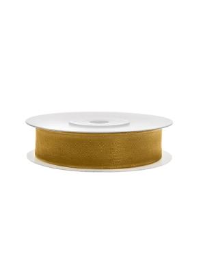 Šifona lente, zelta, 12 mm x 25 m