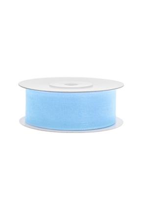 Šifona lente, gaiši zila, 25 mm x 25 m