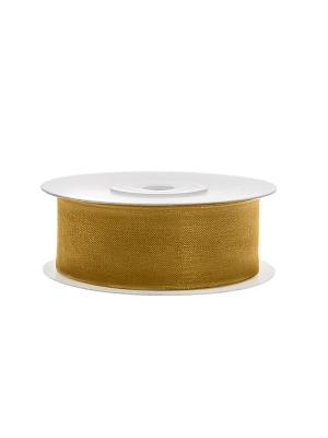 Šifona lente, zelta, 25 mm x 25 m