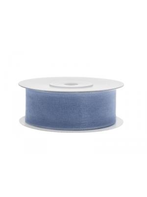Šifona lente, dūmakaini zila, 25 mm x 25 m