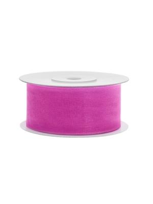 Šifona lente, rozā, 38 mm x 25 m