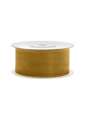Šifona lente, zelta, 38 mm x 25 m