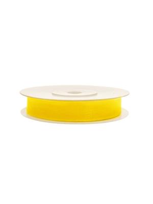 Šifona lente, dzeltena, 6 mm x 25 m