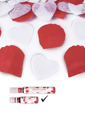 Plaukšķene ar sirdīm un rožlapiņām, 30 cm