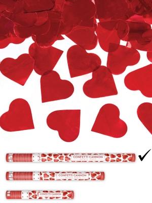 Plaukšķene ar sirdīm, sarkana, 80 cm