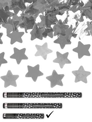 Plaukšķene ar zvaigznēm, sudraba, 40 cm