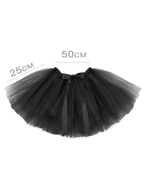 Туту юбка, чёрная, 50 x 25 см