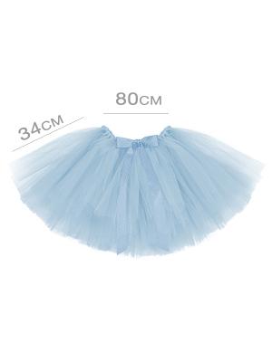 Туту юбка, светло синяя, 80 x 34 см