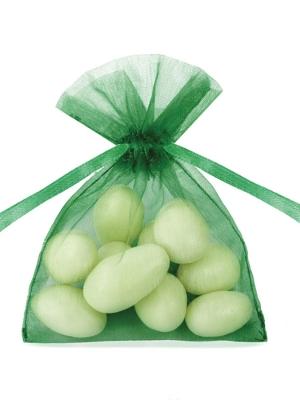 20 gab, Organzas maisiņi, smaragdzaļš, 7.5 x 10 cm