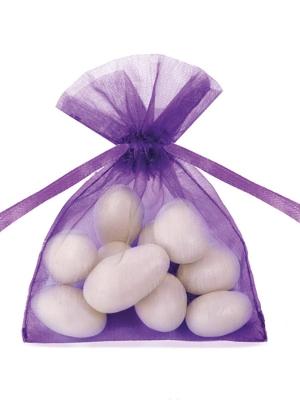 20 gab, Organzas maisiņi, violeti, 7.5 x 10 cm