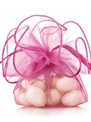 20 gab, Organzas maisiņi, spilgti rozā, 26 cm