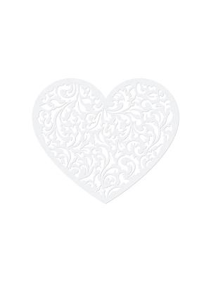 10 gab, Papīra dekorācija Sirds, 12 x 10 cm