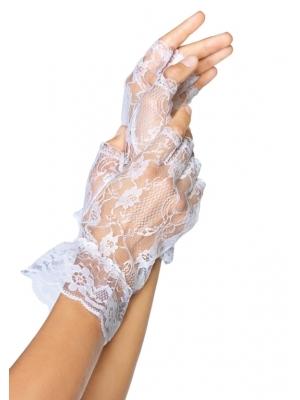 Wrist length fingerless gloves