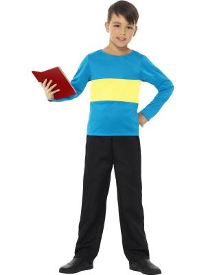 Džemperis, zils ar dzeltenu strīpu