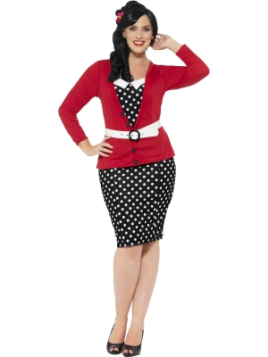 Curves 50s Pin Up Costume
