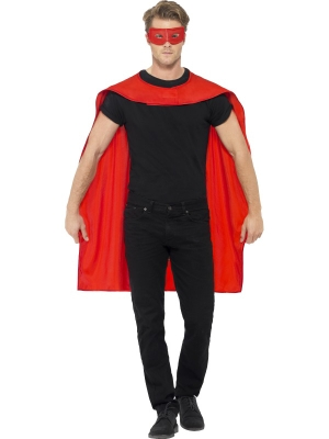 Cape with Eyemask, Red