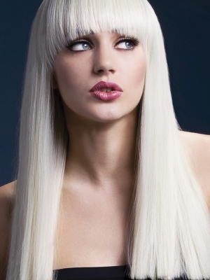 Parūka Aleksija, blonda, 48 cm