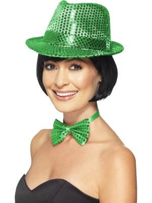 Cepure ar fliteriem, zaļa