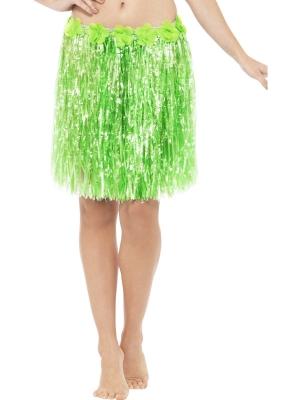 Юбка в Гавайском стиле, неоново зелёные