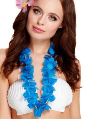 Havaju ziedu virtene, neona zila