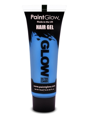 Светящаийся в темноте   гель для волос,    синий , 10 мл