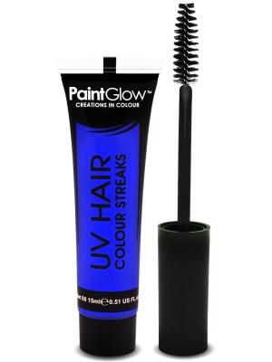 UV krāsa matu šķipsnām, zila, 15 ml