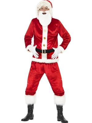 Jolly Santa Costume, with Hooded Jacket