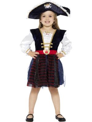 Deluxe Glitter Pirate Girl Costume