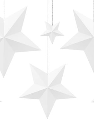 6 gab, Papīra zvaigznes, baltas