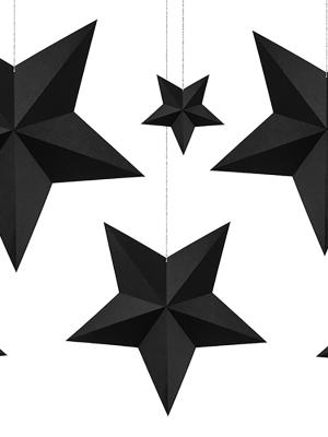 6 gab, Papīra zvaigznes, melnas