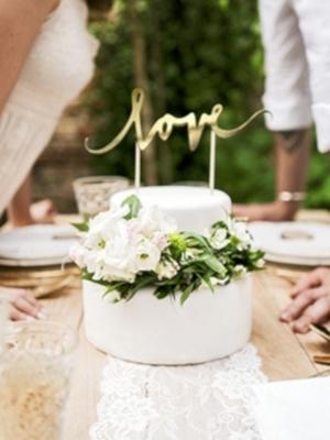 Tortes iesmiņš Love, zelta, 17 cm