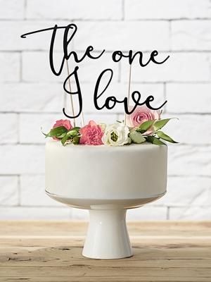 4 gab, Tortes iesmiņi The one I love, melns, 15 - 24.5 cm