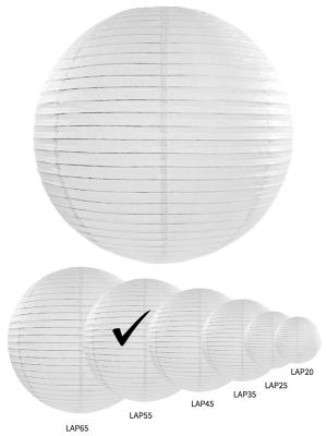 Papīra laterna, balta, 55 cm