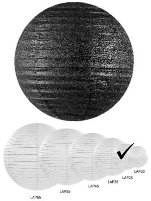Laterna ar gliteriem, melna, 25 cm