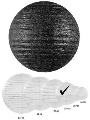 Laterna ar gliteriem, melna, 35 cm