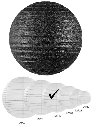Laterna ar gliteriem, melna, 45 cm