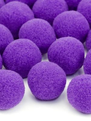 20 gab, Plīša pomponi, violeti, 2 cm
