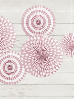 3 gab, Dekoratīvās rozetes, gaiši rozā, 40, 32, 23 cm