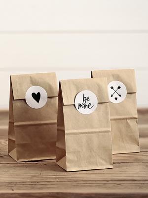 6 gab, Papīra maisiņi, kraft papīrs, 8 x 18 x 6 cm