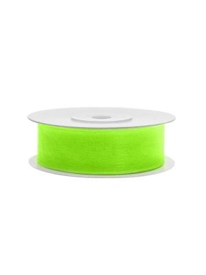 Šifona lente, neona gaiši zaļa, 19 mm x 25 m