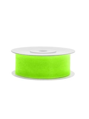 Šifona lente, neona gaiši zaļa, 25 mm x 25 m