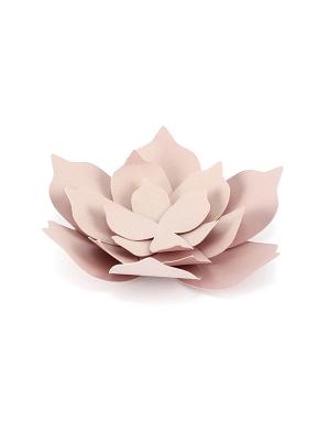 3 gab, Papīra dekorācija Zieds, gaiši rozā, 10 cm