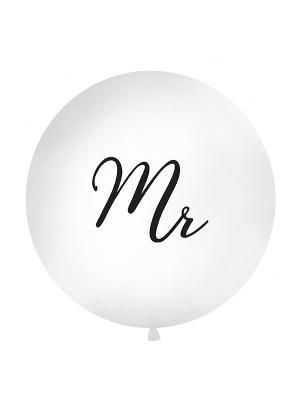 1 metra balons Mr, balts