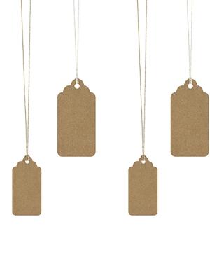 6 gab, Dekoratīvās birkas, kraft papīrs, 2.3 x 4.7 cm, 3.2 x 6.5 cm